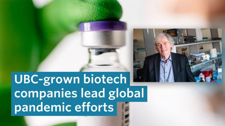 UBC highlights contributions by Dr. Pieter Cullis & colleagues to Pfizer's COVID vaccine